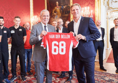 OeVV Nationalteam Bei BP Van Der Bellen